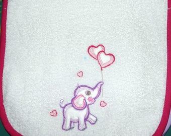 5 embroidered child bib