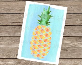 Pineapple Print 5x7 Digital Download