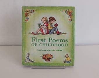 1967/Tasha Tudor first edition/Tasha Tudor children book/rare book edition/first poems of childhood/antiquityfrench/New York/children book