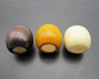6PCS wood Dreadlock beads wooden dread Making Jewelry Accessories about 8mm hole