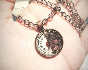 Steampunk Clock bits and pieces necklace