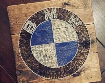 BMW Emblem Logo String Art