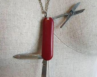 Vintage Pocket Knife Necklace