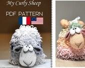 crochet sheep amigurumi  - PDF digital crochet pattern