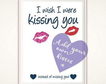 Long Distance Boyfriend Gift-  PRINTABLE Relationship Gift, Long distance Gift, Missing You, Long Distance Love, Gift for Boyfriend, Ideas