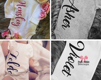 CUSTOM Baby Name Onesies - # onesie - Hello World I'm... - NAME reveal Onesies - custom onesie - PERSONALIZED onesie - custom baby bodysuit