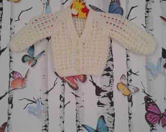 Newborn Cardigan, Lemon Cardigan, Girls Cardigan, Knitted Cardigan, Baby Girl, Handmade, Hand Knitted
