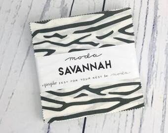 NEW Savannah Charm Pack - Moda Fabrics -  Gingiber - 42 pieces