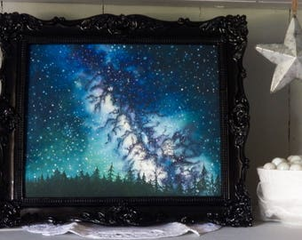 """8"""" x 10"""" Limited Edition Print   Closed set of 10   Titled 'Blanket of Stars II'   Giclee   Galaxy Art   Space Art   Milky Way   Art Print"""