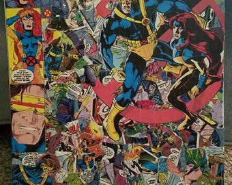 Cyclops and Phoenix X-Men inspired 11x14 comic book collage
