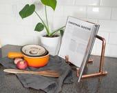 Copper IPad Stand - Cookbook Holder - Copper Pipe Stand