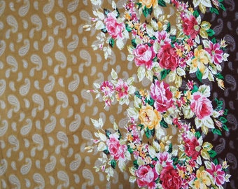 "Crafting Floral Print, Cotton Jacquard Fabric, Dressmaking Fabric, Sewing Crafts, 42"" Inch Fabric By The Yard ZBCJQ6A"