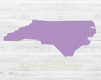 North Carolina Vinyl Decal