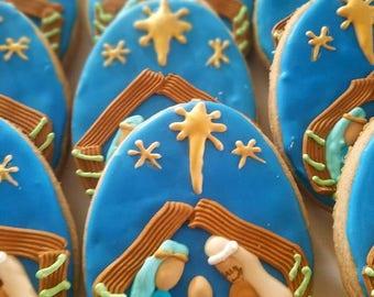 Religious christmas (12 cookies)