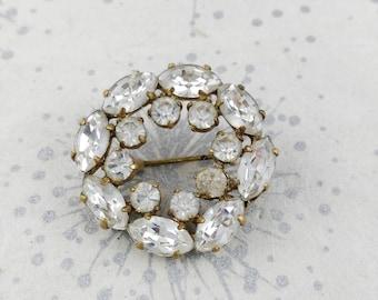 Diamante Circle Brooch