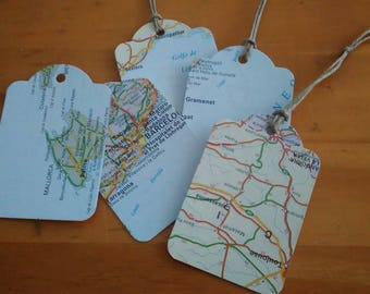 Tagged map with cord