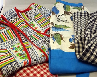 Vintage Aprons Lot of 4 Full Half