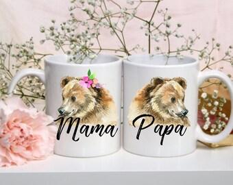 His and Hers Mugs | Mama and Papa Mugs | Mama Bear Mug | Papa Bear Mug | Special Date | Custom Orders | Gifts for Them