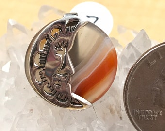 Agate Moon Ring Size 7
