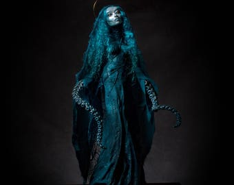 Our Lady of Tentacles- ooak handmade lovecraftian horror art sculpture