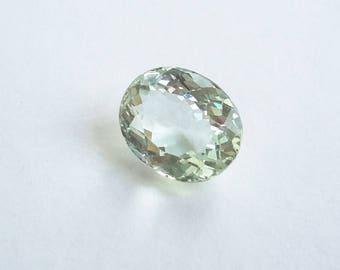 aquamarine 2.8ct gemstone, loose aquamarine gem 9.8 mm x 8.8 mm x 5.6 mm, genuine loose aquamarine gemstone, oval aquamarine, Si