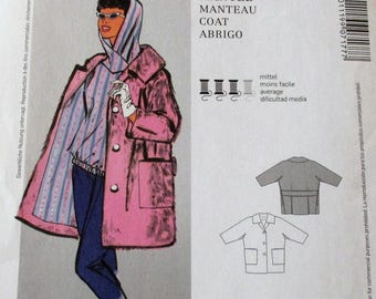 Burda Pattern, Burda7177, misses very loose fitting, lined coat