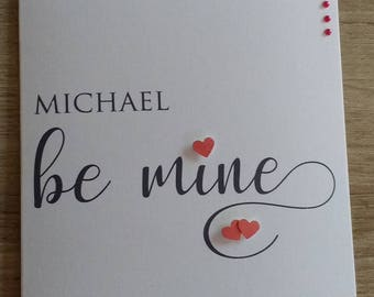 Be Mine (hearts) Valentine Greeting Card