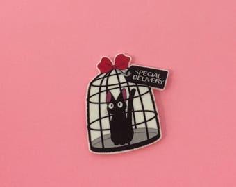 Jiji Pin [brooch lapel pin miyazaki studio ghibli kiki's delivery service]