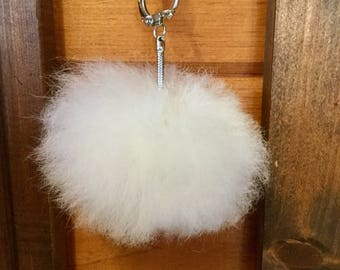 Alpaca fur Pompom keychain