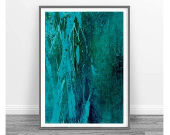 Original abstract painting, Art, rustic home decor, abstract painting, Downloadable print, emerald green, turquoise, set of 3, teal abstract