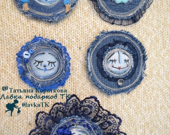 jeans brooch mime