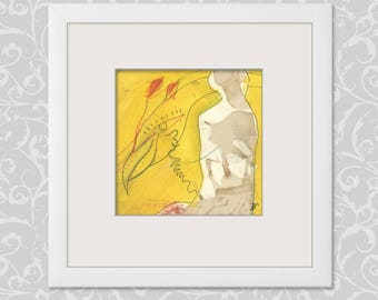 Small image communications 15/15 cm (5.9/5.9 inch) woman, bird
