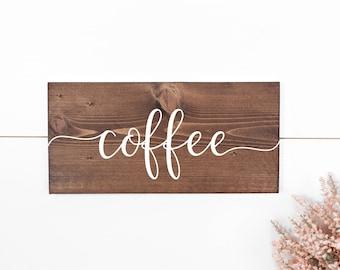 Coffee wedding sign