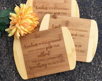 Volunteer gifts etsy engraved cutting board volunteering giftcutting boardshower giftwedding gift negle Choice Image