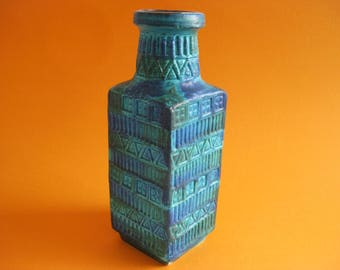 Free Shipping! Vintage Bay  70 25 Vase Designed by Bodo Mans retro vintage west germany pottery green blue wgp