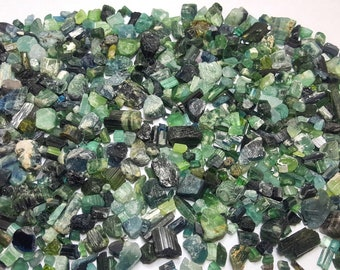 WOW 380 Gram Beautiful Mixed Color Tourmaline Rough@Afghanistan