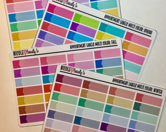 Multi Color Seasonal Appointment Label Stickers for use with Erin Condren Life Planner and other planners