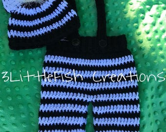 Crochet Overalls and Hat, Photo Props, Baby outfit