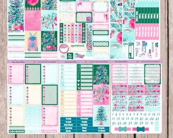 SUGAR PLUM CHRISTMAS Planner Sticker Set | sized for the Vertical Erin Condren Life Planner | V12