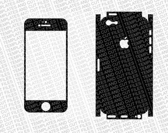 Iphone 5C Skin template for cutting or machining - Digital File Download - SVG, EPS, CNC, Apple Iphone 5C Cut File, ai, cdr, jpg, png, dxf