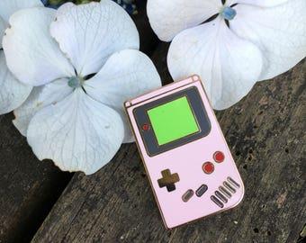 Pink Gameboy Lapel Pin (Glow In The Dark) - Nintendo Enamel Pin