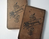 1897 Michigan Woman's Diary, Handwritten Journals, Victorian Era Memorandum books, Nellie Whittaker
