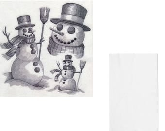 Embroidered Snowman Christmas Xmas Kitchen Tea Towel Cloth Gift Present