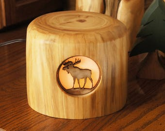 Moose light/Rustic Accent Light/Rustic Night Light/Night Light/Moose Night Light