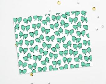 PRINTABLE Sheet - Emerald Bows