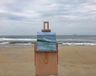 Atlantic Ocean Painting, Coastal Landscape, Blue Ocean Painting, Beach Wall Art, Ocean View, Ocean Scene, Original Seascape Oil Painting