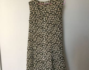 90s Floral Print Mini Shift Dress