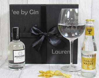 Masons Gin Set-Personalised Gin Gift-Craft Gin Gift-Gin Set-Gin and Tonic-Gin Gift Set-Masons Gin-Yorkshire Gin-Craft Gin Set-Gin kit
