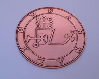 Handmade DUKE DANTALION Goetia Seal Talisman Of 72 Demons Evoked By King Solomon 50mm
