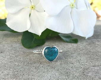 Turquoise Ring, Sterling Silver Ring, Statement Ring, Size 7, Handmade Artisan Ring, Gypsy Ring,Natural Turquoise Gemstone ring,